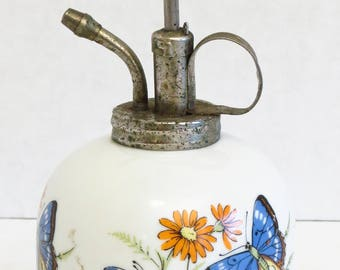 A Price Import Plant mister w. ceramic base, Butterflies pattern