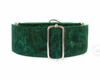 """Spirit of the forest, dog collar, wide sighthound collar, 2"""" martingale, 1.4"""" martingale, 1"""" martingale"""