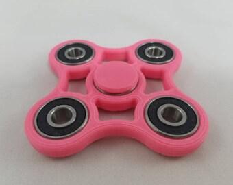 Pink Fidget Spinner 3D Printed Quad Hand Spinner