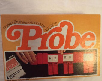 Vintage PROBE 1976 Parker Brothers Word Game Probe