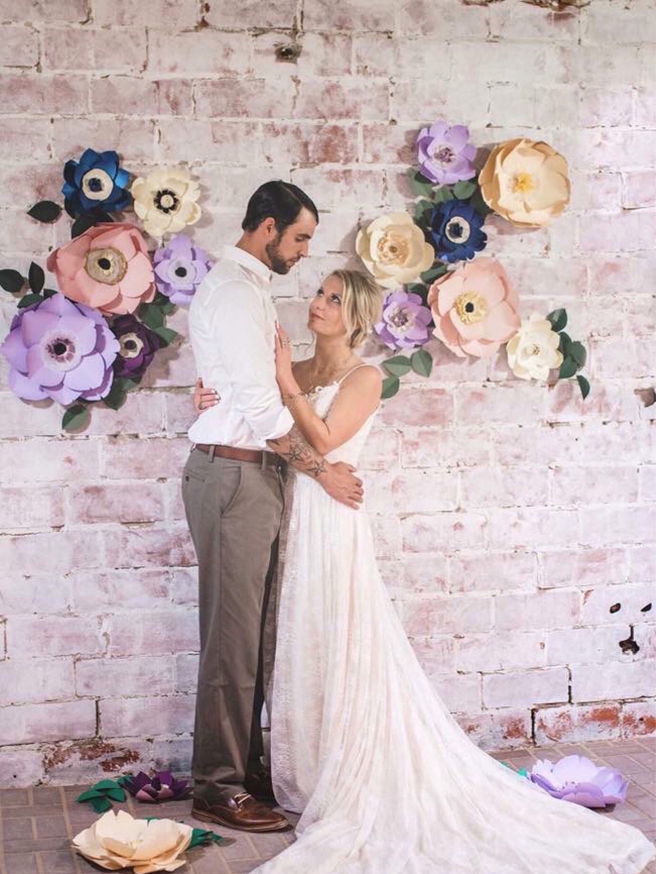 Giant Large Paper Flower Wall Backdrop Decor Wedding Photoshoot Props Stage Baby Girl Nursery Bedroom Accent