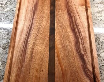 Mahogany and Walnut juice groove cutting board