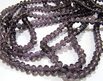 SALE- Amethyst Color Hydro Quartz 4mm Size Beads , Rondelle Faceted approx. 150 Beads per Strand , Jewelry Beads in Wholesale Price.
