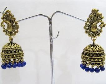 Golden Oxidized Earrings , Jhumka Jhumki Jewelry , Ethnic Drop Chandelier , Traditional Jewelry , Unbelievable Prices