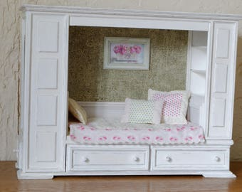 Handmade Bed Miniature 1:6 Pullip Blythe Momoko Barbie BJD Lati