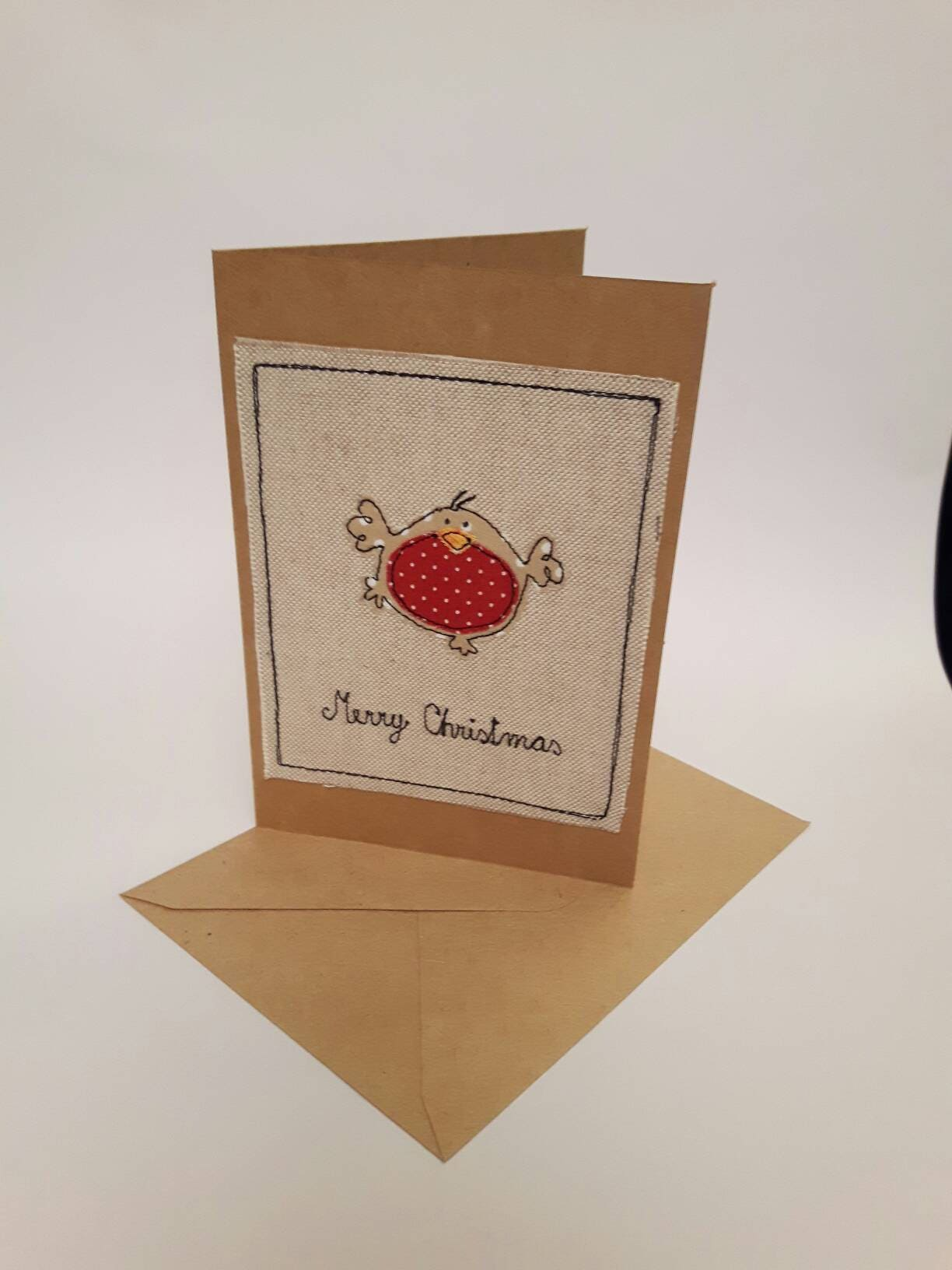 Greeting cards christmas robin fabric greeting cards christmas card snowman applique robin christmas merry m4hsunfo