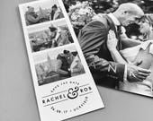 Photobooth Style 'Save the Dates' - also available as magnets