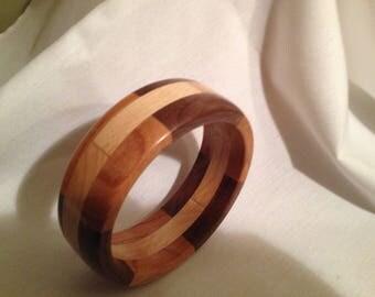 Wood bangle bracelet #3