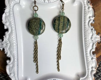 Micanite earrings