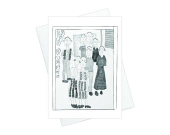 The Family, Pack of 10 Greeting Card Set with White Envelopes