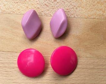Set of Vintage Pink Earrings