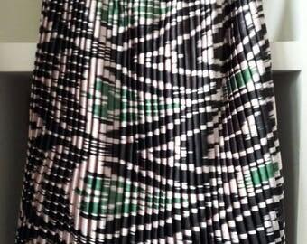 Hand woven silk vintage fabric ikat adras skirt from Uzbekistan