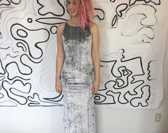 90s silver metallic holographic velvet prom dress evening gown