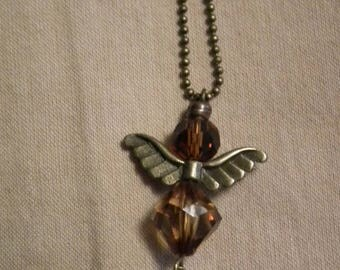 """""""My Angel"""" necklace brown"""