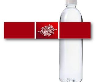 Valentines Day Water Bottle Labels, Printable Water Bottle Labels, Instant Download
