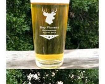 Groomsmen Beer Gift - Personalized Beer Glass - Custom - Groomsman - Keepsake Wedding Gift - Best Man - Engraved Groomsmen Gift- Beer Gift