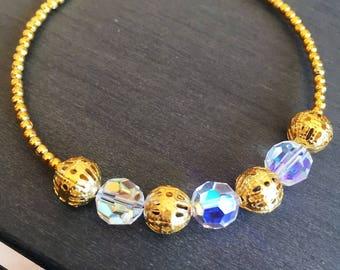Bangle with swarovski crystals