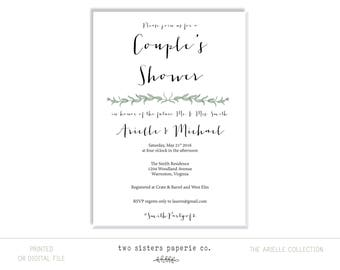 EUCALYPTUS Couple's Shower Invitation - ARIELLE Collection - Eucalyptus Invitation - Greenery Shower Invitation - Eucalyptus Design