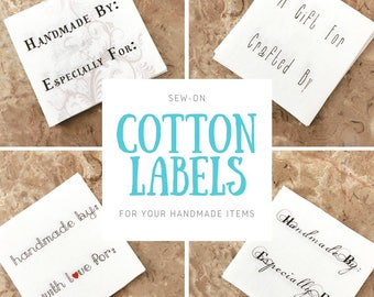 Sew On Cotton Labels Custom Handmade Tags