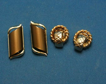 Vintage Coro Clip Earring Lot Of 2 Pairs