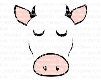 cow face svg, cow head svg, cow dxf, farm svg, farming svg, little bow farm svg, baby farm svg, farm shirt svg, cow svg, steer svg files