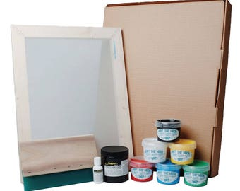 Hunt The Moon Super Screen Printing Kit, Frame Squeegee Ink & Jacquard Photo Emulsion