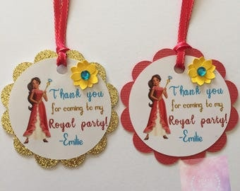 Elena of Avalor inspired thank you tags set of 6