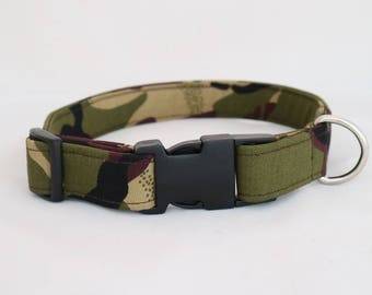 Handmade camoflaurge dog collar