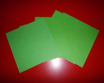 set of 5 Green origami paper Apple 16 x 16 cm
