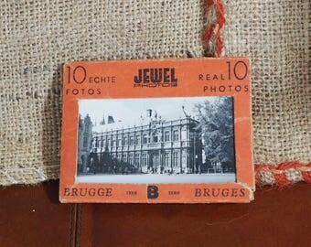 A Collection of 10 Vintage Miniature Photographs  Old Photos Old Photographs Collectable Bruges Photographs Photographs retro, boho.