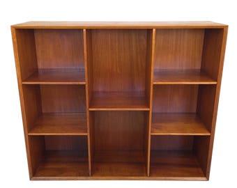 Danish Mid Century Modern Solid Teak Bookcase by Peter Hvidt Circa 1961 WOW!