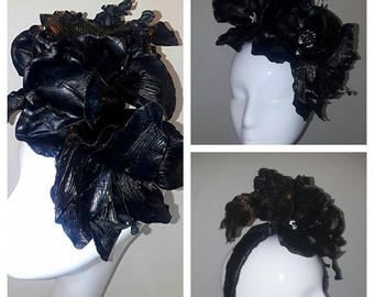 Jet Black floral band