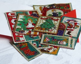 Set of 12 tiles to sew or glue