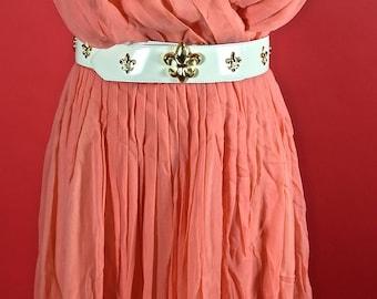 Lilli Diamond Peach Orange Sheer Dress 1950/1960
