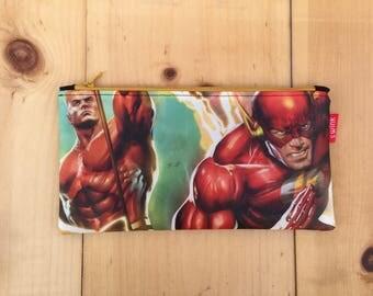 NEW! Justice League Flashpoint San Diego Comic-Con Souvenir Pencil Case Zipper Pouch