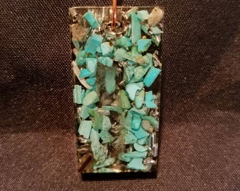 Orgonite with Turquoise and Quartz Crystal