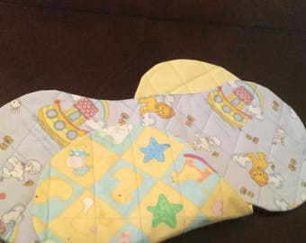 Baby BURP PADS, Soft ,Cozy ,, Over - the - Shoulder, Handmade. Set of 2