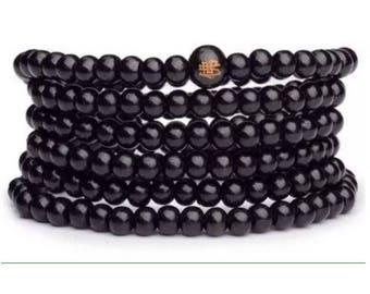 Black sandalwood mala beads