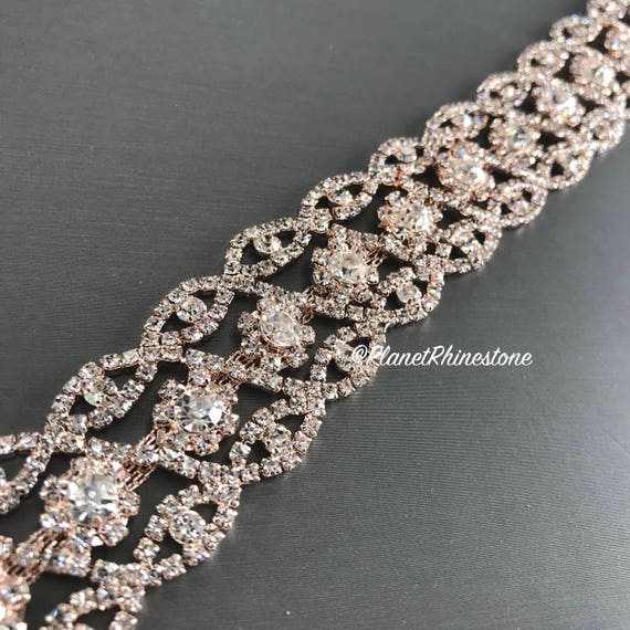Rose Gold Crystal Trim  #0102
