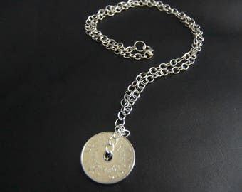 Coin necklace. 5 years Anniversary.