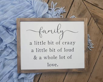 Download Crazy family quote | Etsy
