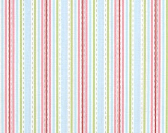 40% off - 2 yards Free Spirit Tanya Whelan Collection -  Lulu Roses Liza TW100 Sky- Stripes