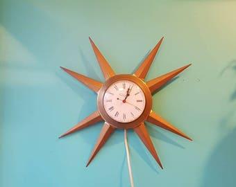 Starburst Clock Etsy