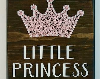 Little Princess String Art, Nursery Decor, Girls Room Decor, Baby Shower Gift