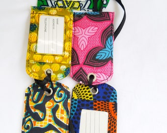 African print Luggage tags/ Card Holder