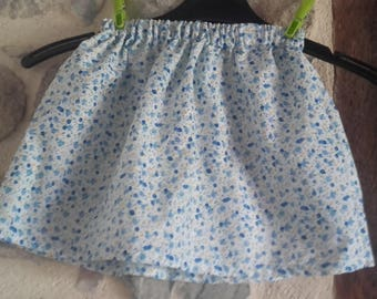 Skirt hand-made in European fabric one hundred percent cotton