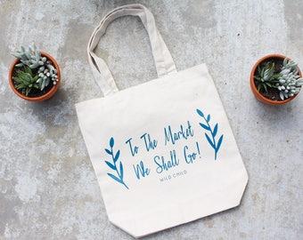 Tote Bag | Farmers Market Bag | Reuseable Tote | Reuseable Bag | Shopping Bag | Market Bag