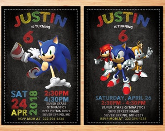 Sonic Invitation, Sonic Invitation, Sonic Invite, Sonic Birthday Invitation, Sonic Personalized Invitation, Sonic Invitation Digital File