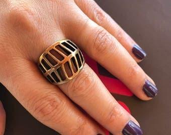 Metal ring,  Oxidized ring,  Adjustable ring