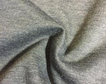 Gray Two-tone, Ponte Di Roma Double Knit Fabric. Designer End